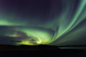 Northern lights, aurora borealis, Iceland